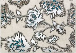 Domino Dekor Gris Flower Turkus 25X36