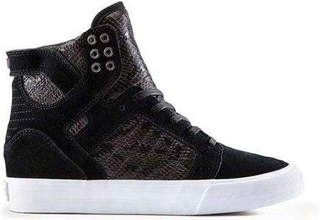 buty SUPRA - Womens Skytop Wedge Black-White (BLK)