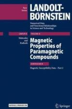 Magnetic Properties Of Paramagnetic Compounds: Subvolume B, Magnetic Susceptibility Data Part 2