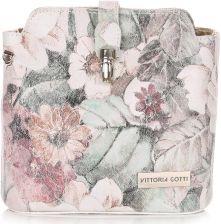 d09c6dd4b0045 Włoskie Torebki Skórzane Listonoszki Vittoria Gotti wzór Kwiatów Multikolor  Biała (kolory)