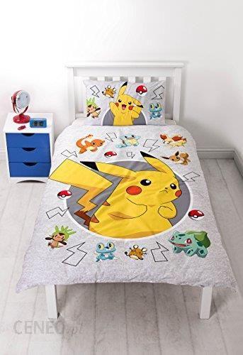 c8b61522a7d22 Amazon Pokémon komplet pościeli z motywem z kreskówki Pokémon, 135 cm x 200  cm -