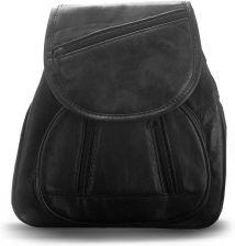 c21e4db1883a9 Miękki elegancki plecak damski z naturalnej skóry cielęcej