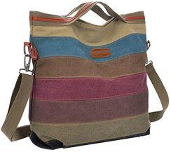 b879085cb1a10 Amazon coofit panie dziewczęta torba torba na ramię plecak do szkoły na  płótnie Multi funkcja ręczna