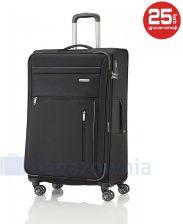 572d10ba438a7 Duża walizka TRAVELITE CAPRI 89849-01 Czarna - oliwkowy