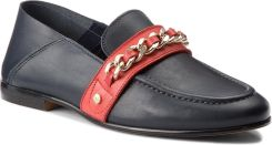c3e5f19b4d1f9 Półbuty TOMMY HILFIGER - Chain Detail Corporate Loafer FW0FW03396 Tommy  Navy ...