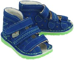 252f19daba1f8 DANIELKI TA105 blue fluo, buty profilaktyczne dziecięce