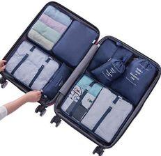 fcc245bb7293d Amazon Belsmi podróżna torba na ubrania zestaw 8-częściowy torba podróżna w  walizce bagaż podróżny