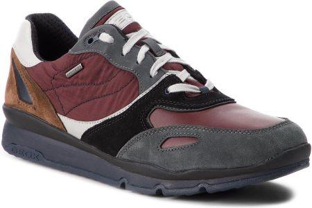 d33b449f9bcec Sneakersy GEOX - U Sandford B Abx A U44S7A 020FU C9AA7 Anthracite/Wine  eobuwie