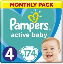 Pampers Active Baby MTH 4 Maxi 174szt.