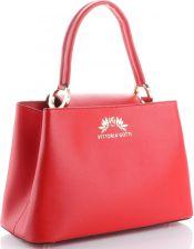 353d3c617b332 Torebki Skórzane firmowy Elegancki Kuferek Vittoria Gotti Made in Italy  Czerwone (kolory) ...