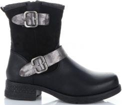 46511859 Firmowe Botki Damskie Lady Glory buty na każdą okazję wykonane z wysokiej  jakości skóry eko Czarne ...