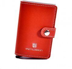 0e496abbf41fe Etui na karty kredytowe i banknoty PETERSON 602 czerwone - czerwony