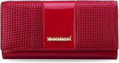 58201f2d8bd68 Elegancki portfel monnari portmonetka damska lakierowana skóra 3d – czerwony