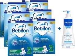 Bebilon 2 Pronutra Plus 6x1200g + żel Mustela 500ml
