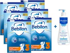 Bebilon JUNIOR 3 Pronutra Plus 6x1200g + żel Mustela 500ml