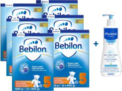 Bebilon JUNIOR 5 Pronutra Plus 6x1200g + żel Mustela 500ml