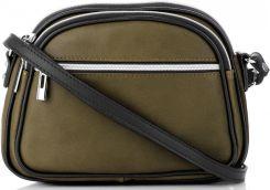 b33b17dbf15a8 Uniwersalne Włoskie Torebki Skórzane Listonoszki do noszenia na co dzień  marki Genuine Leather Dwie Komory Khaki