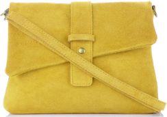 07a7523ea0b39 Uniwersalne Torebki Skórzane Listonoszki firmy Vittoria Gotti Made in Italy  Żółte (kolory) Panitorbalska.pl