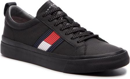 a26f3c13afbbf Tenisówki TOMMY HILFIGER - Flag Detail Leather Sneaker FM0FM01712 Black ...