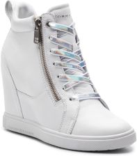 1871bde489226 Sneakersy TOMMY HILFIGER - Iridescent Dress Sneaker FW0FW03921 White 100  eobuwie