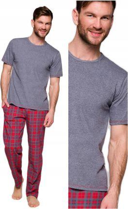 63ab39871aec87 piżama męska Taro Jeremi 2199 grafit bawełna - XXL