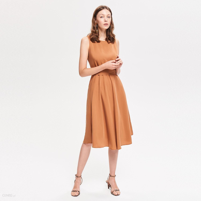6fec3a704a Reserved - Sukienka z Tencelu™ - Brązowy - Ceny i opinie - www ...