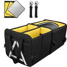 5bfe25d50c9cf Amazon SOLOFISH organizer do bagażnika samochodowego, z tkaniny Oxford,  składana torba do bagażnika z