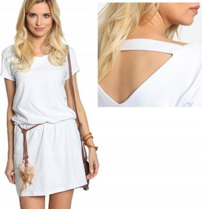 a270cbce90 Tunika sukienka bawełna gładka 918 Biała L XL Allegro