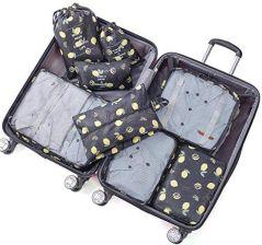 a7aed40034463 Amazon Belsmi podróżna torba na ubrania zestaw 8-częściowy torba podróżna w  walizce bagaż podróżny