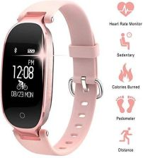 82c66602abadad Amazon Zegarek damski, tracker fitness, z pulsometrem, licznikiem kalorii,  krokomierzem, pomiarem