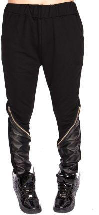 bd7a4a62640c65 AliExpress Nowy faux skóry patchwork zamki embed hip hop ulica spodnie moda  dziki styl, bawełna