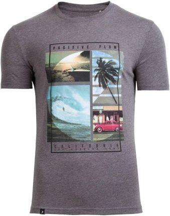 967a3bd4ab01db Outhorn T-shirt męski TSM606 - średni szary melanż. Koszulka ...