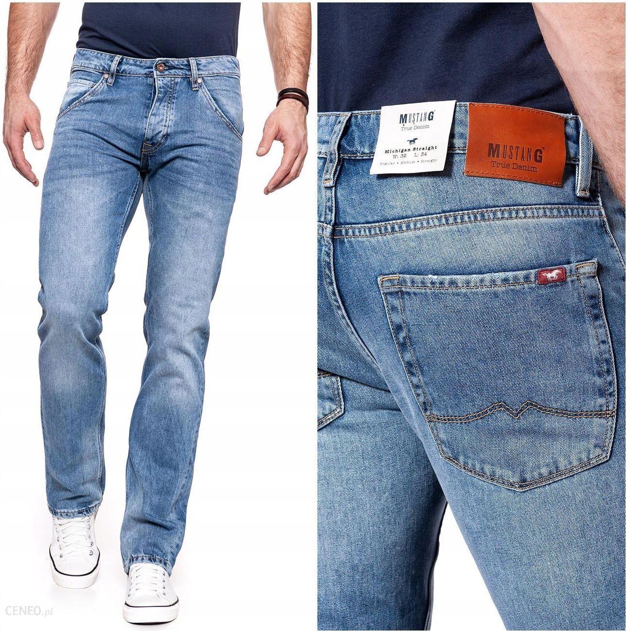 mustang michigan straight spodnie jeansowe w32 l32 ceny. Black Bedroom Furniture Sets. Home Design Ideas