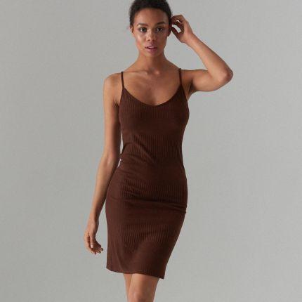 8da800c3 Beżowe i brązowe sukienki Lato 2019 - tranquilskinandbeauty.com.au