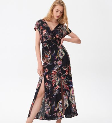 ff4d3847d8377e House - Wzorzysta sukienka maxi - Wielobarwn ...