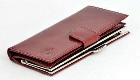 7429098d813cc Skórzany portfel damski KRENIG Scarlet 13026 czerwony w pudełku ...
