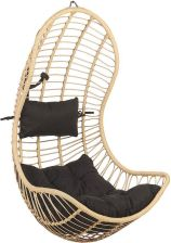 Beliani Fotel wiszący rattanowy beżowy PINETO