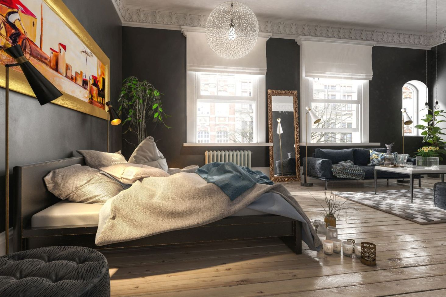 Salon Z Sypialnią Jak Urządzić Wnętrza Ze Smakiem