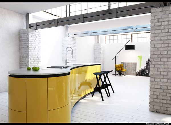 Wiosennie I świątecznie Biało żółta Kuchnia Wnętrza Ze