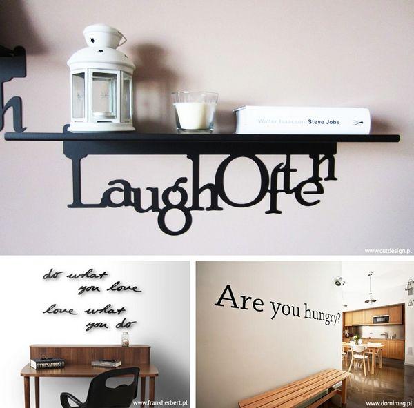 Napisy Dekoracyjne Na ścianę I Na Półkę Wnętrza Ze Smakiem