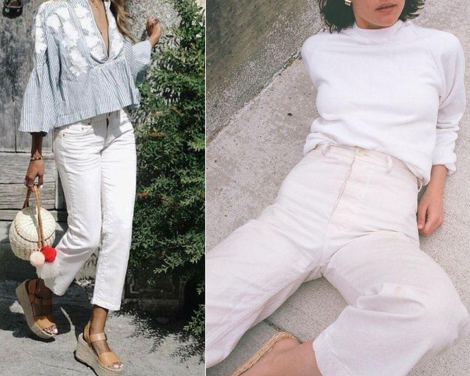 3bf9fb0562 Latem kobiety najczęściej noszą krótkie spódniczki i szorty. Nie każda z  nas lubi jednak pokazywać nogi. Idealnym rozwiązaniem będą białe spodnie  damskie.