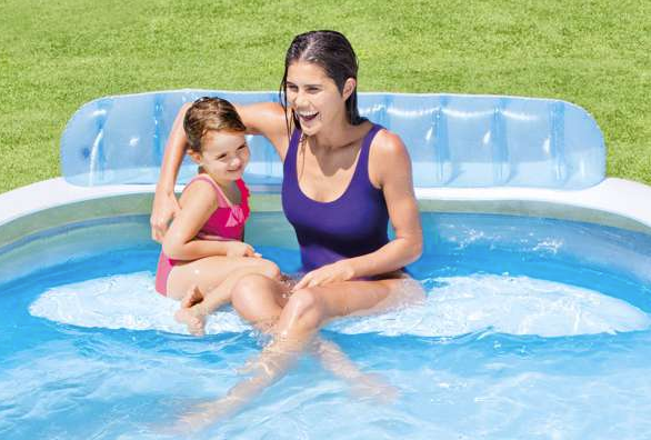 Intex basen swim center family lounge pool 224x216x76 cm - Intex swim center family lounge pool blue ...