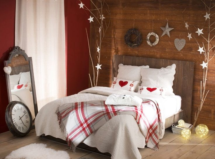 Sypialnia W świątecznym Stylu Wnętrza Ze Smakiem