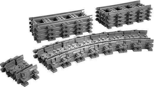 Lego City Trains Flexible Rails 7499