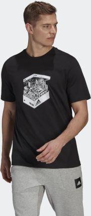 Adidas Milan Shoebox Tee GT4850 - Ceny i opinie T-shirty i koszulki męskie UBNX
