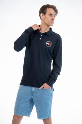 TOMMY HILFIGER POLO BASIC BADGE M Granatowy - Ceny i opinie T-shirty i koszulki męskie NZZI