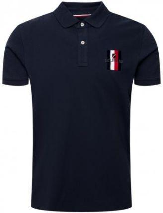 TOMMY HILFIGER POLO EMBROIDERED M Granatowy - Ceny i opinie T-shirty i koszulki męskie CMGS