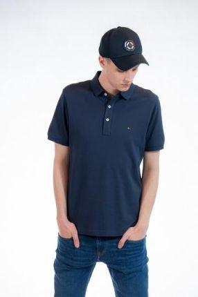 TOMMY HILFIGER POLO M Granatowy - Ceny i opinie T-shirty i koszulki męskie UJXW
