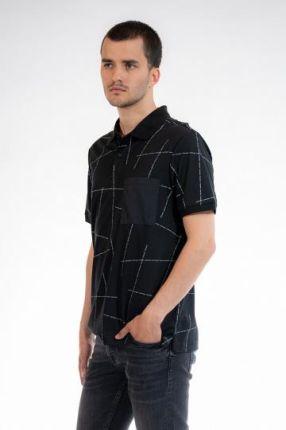 CALVIN KLEIN POLO Czarny L - Ceny i opinie T-shirty i koszulki męskie PQUO
