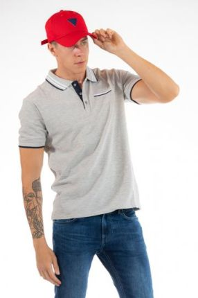 GUESS POLO Szary M - Ceny i opinie T-shirty i koszulki męskie ZBUI